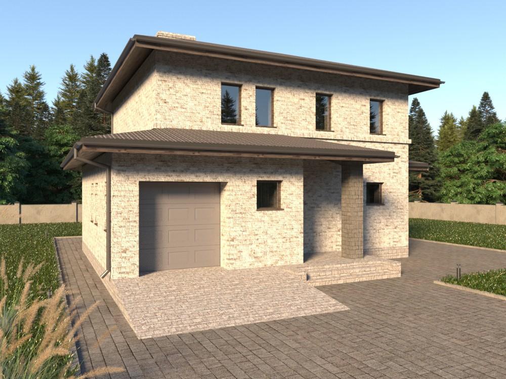 Просторный кирпичный дом с гаражом