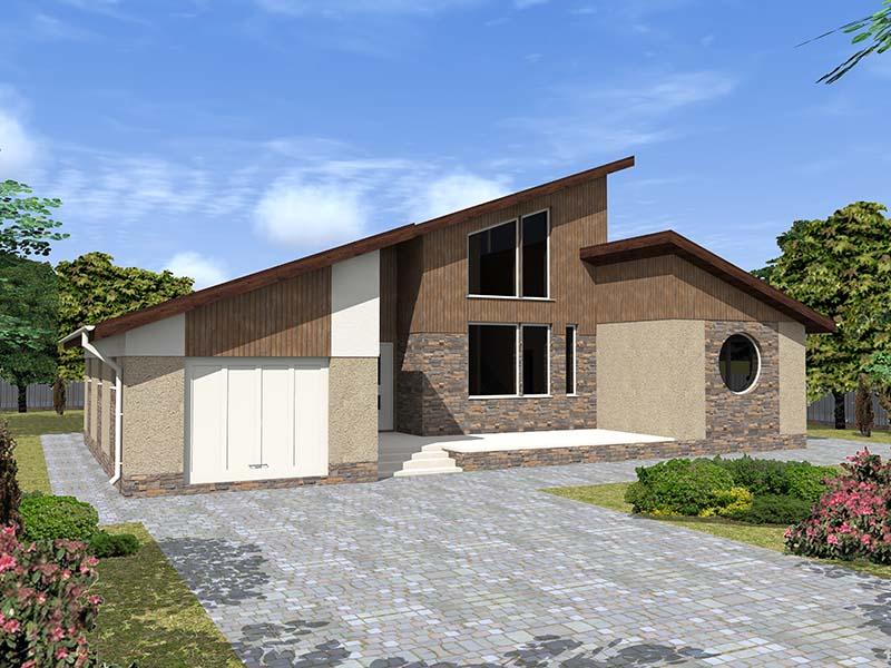Двухэтажный дом из газобетона 17 на 12 с гаражом