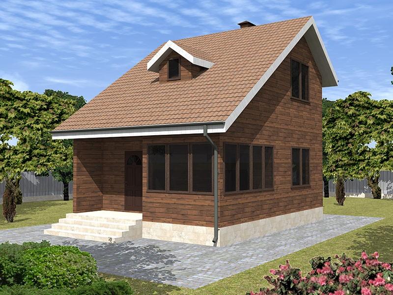 Компактный дом из бруса