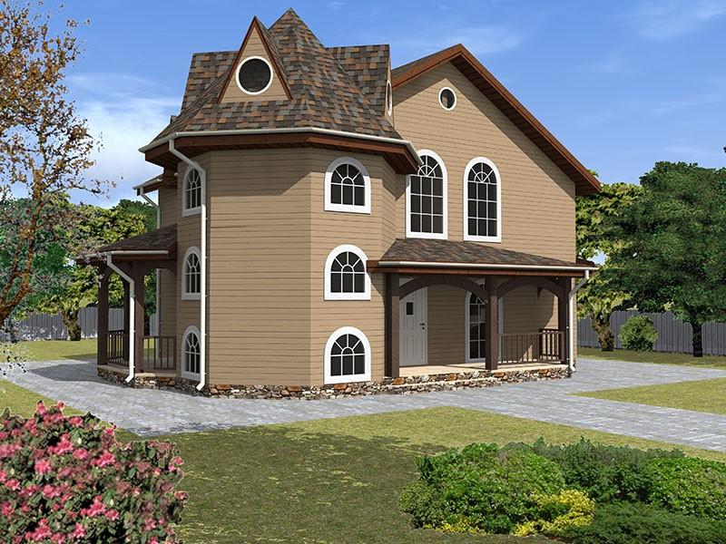 Брусовой дом с террасами