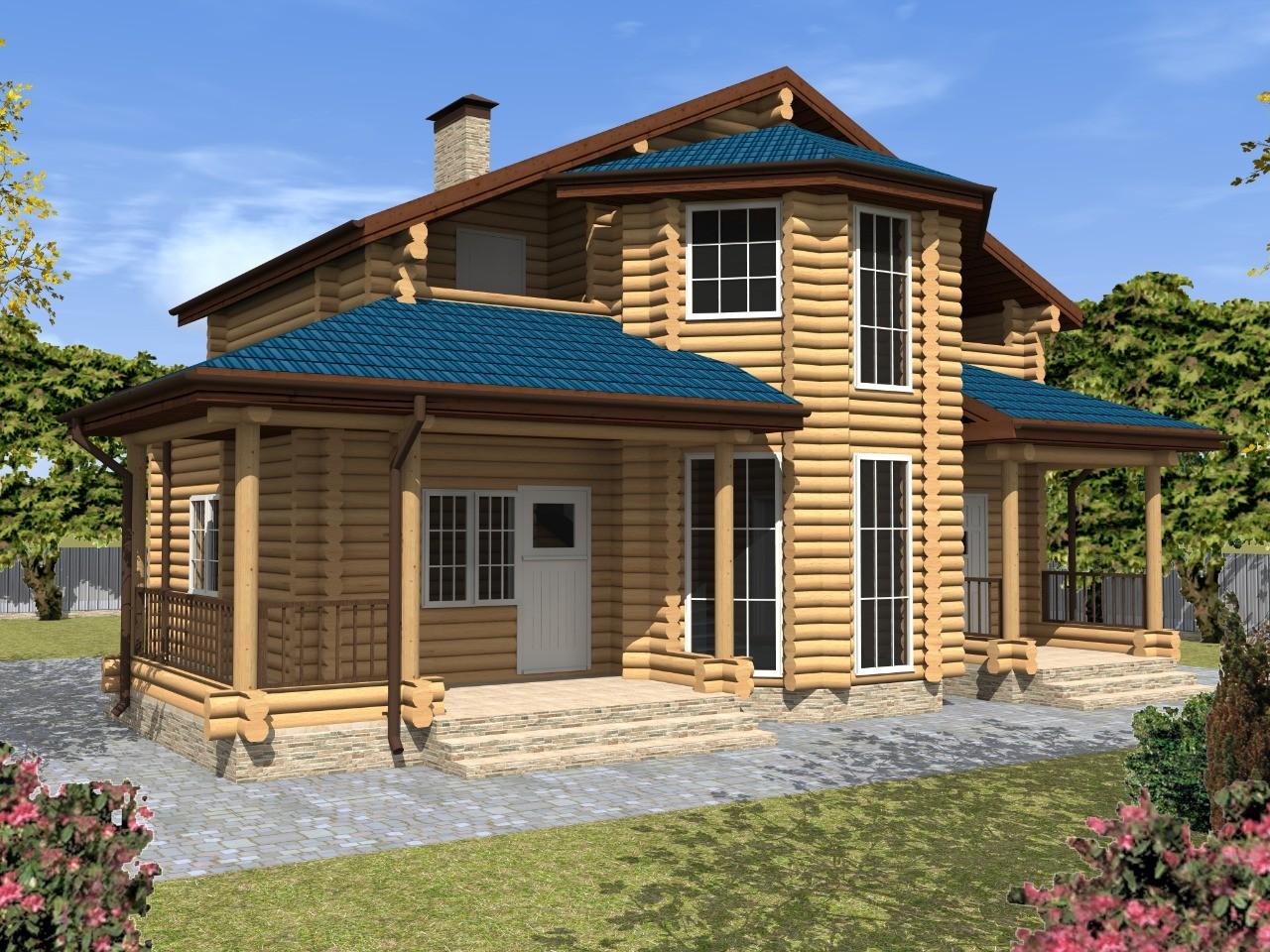 Проект деревянного дома 12 на 10