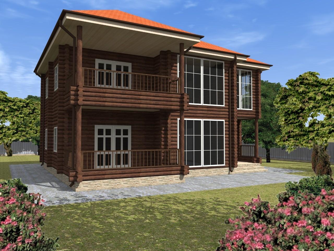 Проект деревянного дома 200 м.кв.