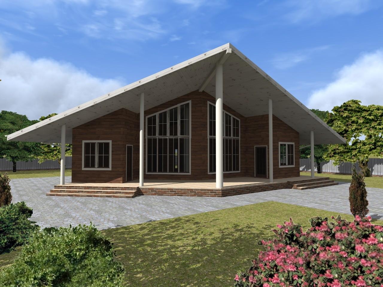 Проект уютного каркасного дома