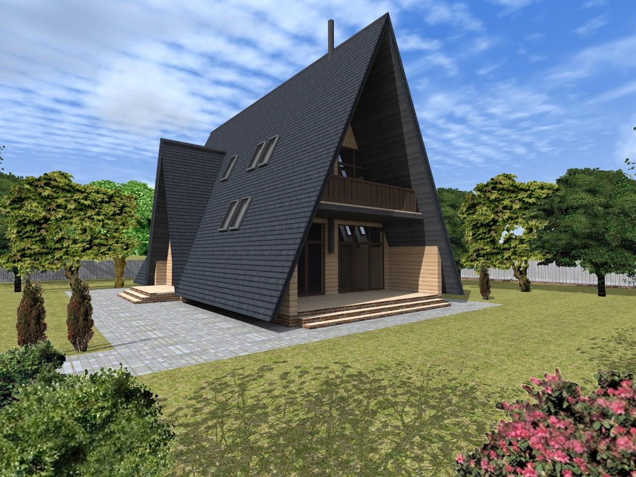 Проект каркасного дома a-frame