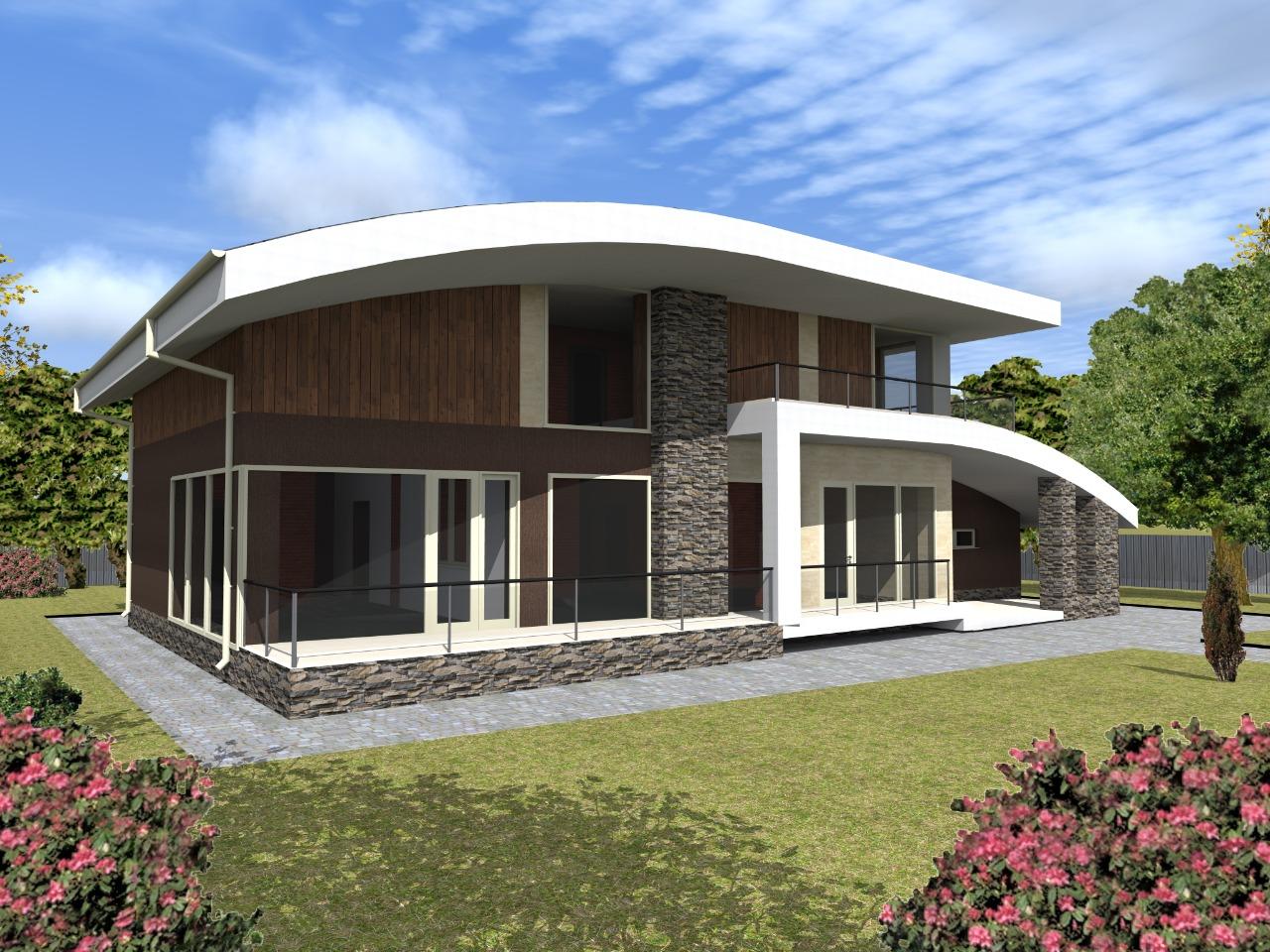 Проект нестандартного кирпичного дома