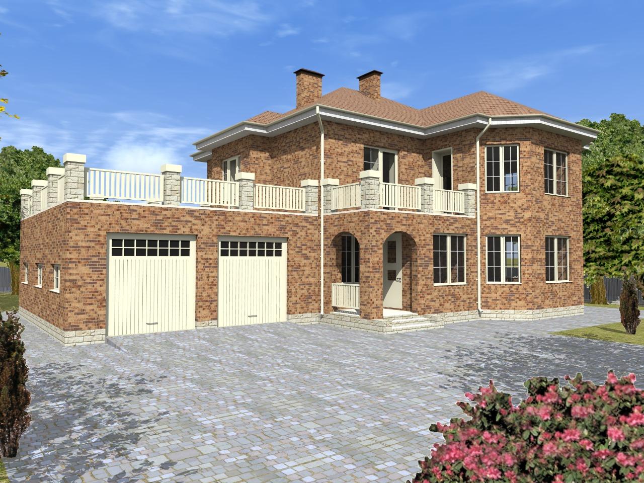 Проект роскошного дома из газобетона