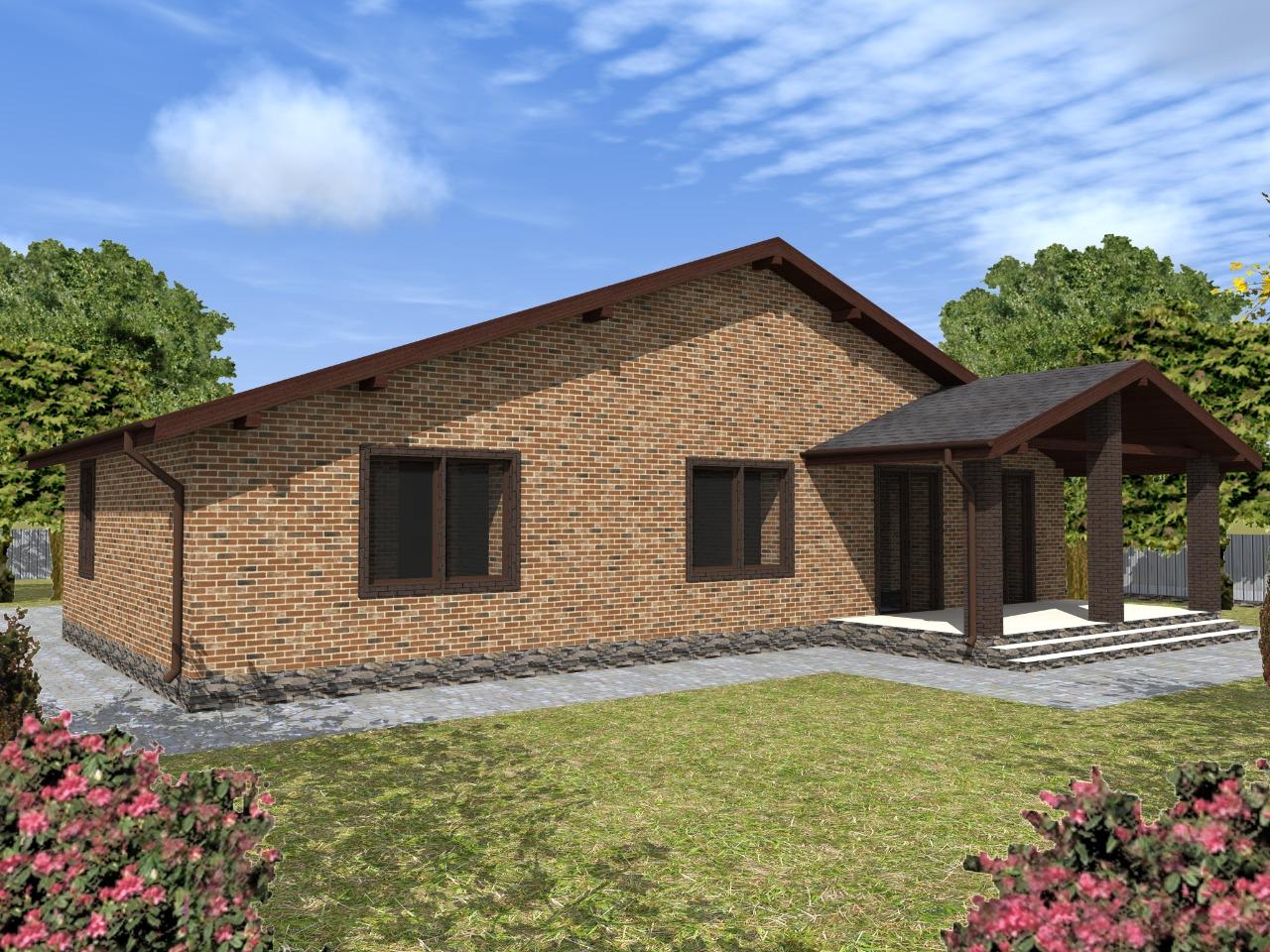 Проект дома 130 м2 из газобетона