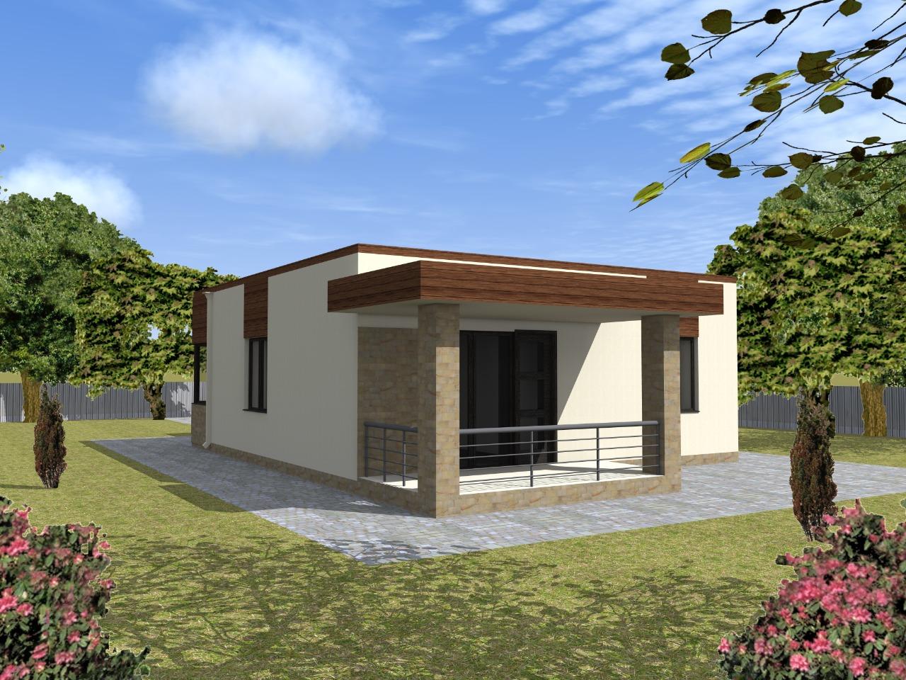 Проект одноэтажного дома из кирпича 9 на 10