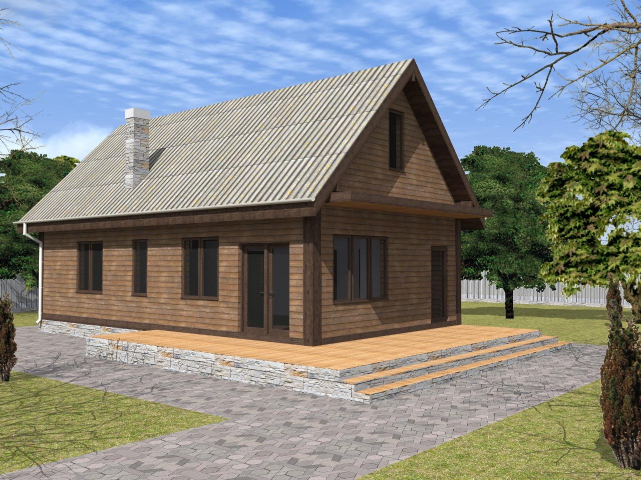 Проект компактного деревянного дома
